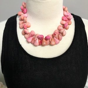 Jewelry - Pink Stone Necklace, Marbled, Chic and so Fun!